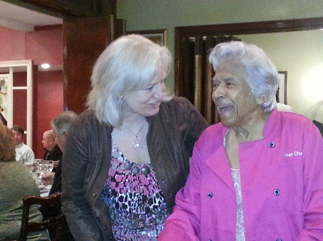 Leah Chase & Charlotte at Dooky Chase ~ Photo by Anita Mital
