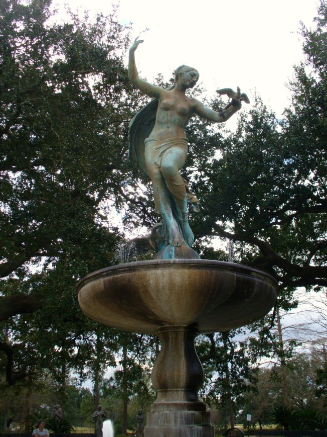 Gumbel Memorial Fountain in Audubon Park, Sculpture by Isidore Konto